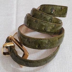 Ann Taylor Olive Patent Leather Belt S/M #404